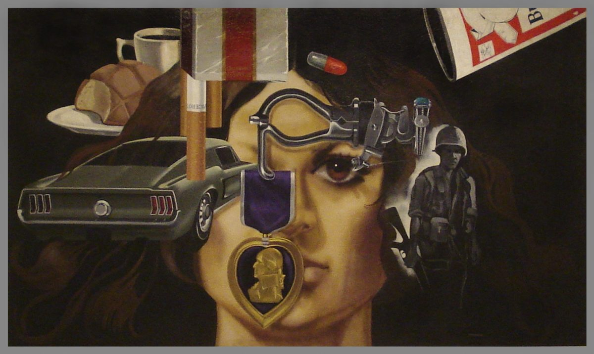 Jesse Treviño, Mi Vida, 1971?73, acrylic on drywall, mounted on aluminum, Collection of Inez Cindy Gabriel. Image Courtesy of Gabriel Quintero Velasquez.
