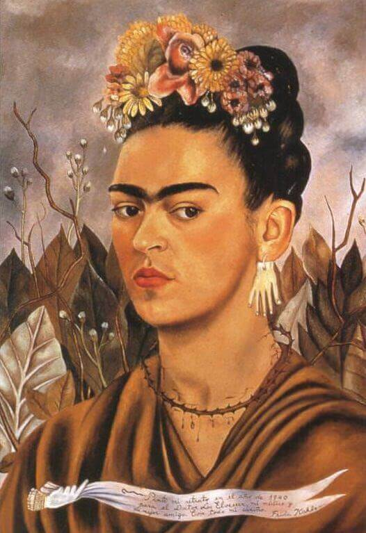 Self portrait by Frida Kahlo dedicated to her doctor